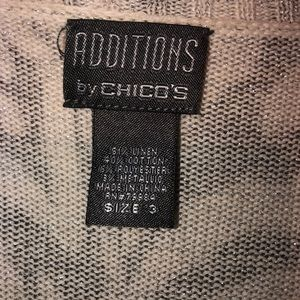 Chico's Sweaters - Additions by Chico zebra striped cardigan size 3